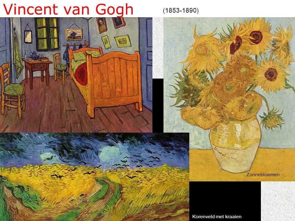 Vincent van Gogh (1853-1890) Korenveld met kraaien Zonnebloemen