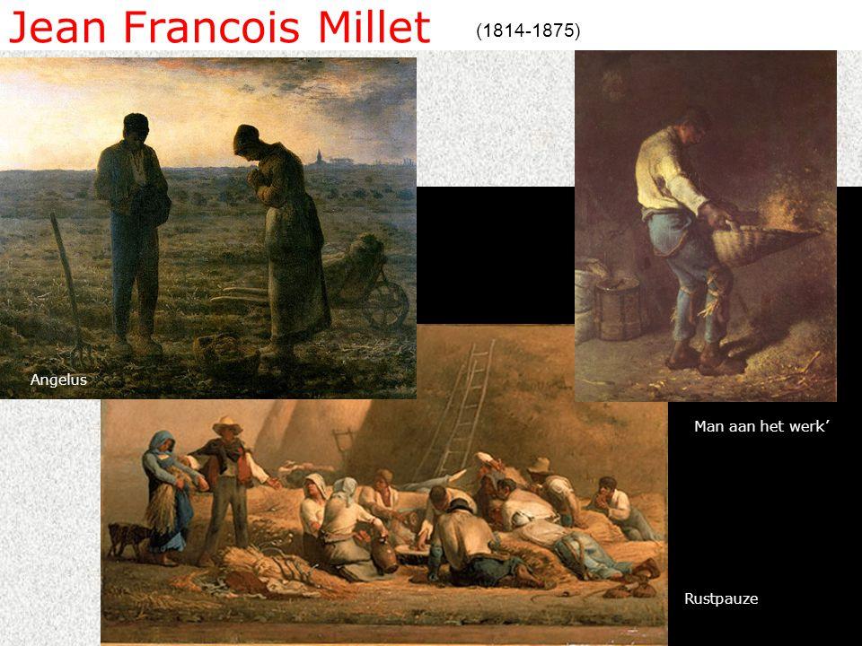 Jean Francois Millet (1814-1875) Man aan het werk' Rustpauze Angelus