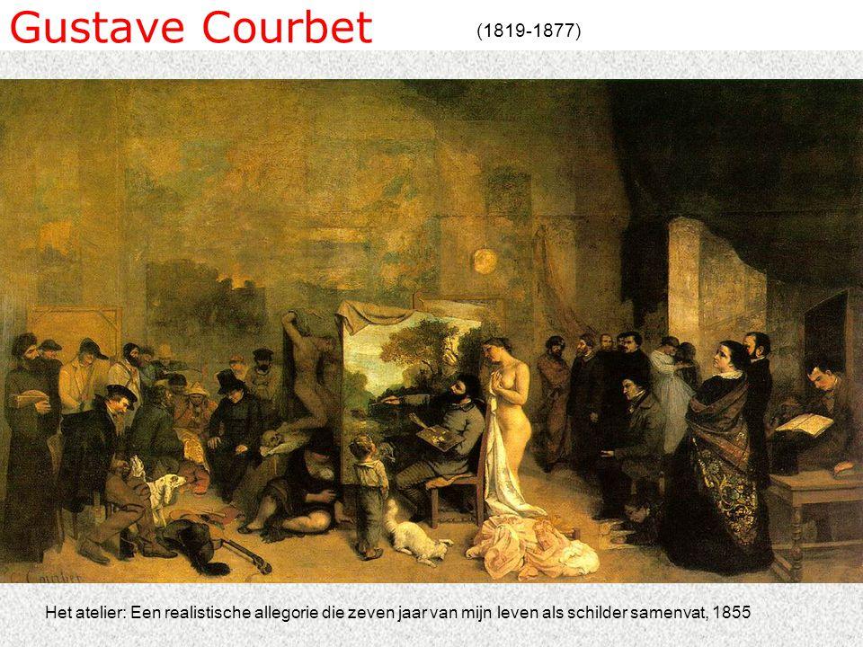 Gustave Courbet (1819-1877) Het atelier: Een realistische allegorie die zeven jaar van mijn leven als schilder samenvat, 1855
