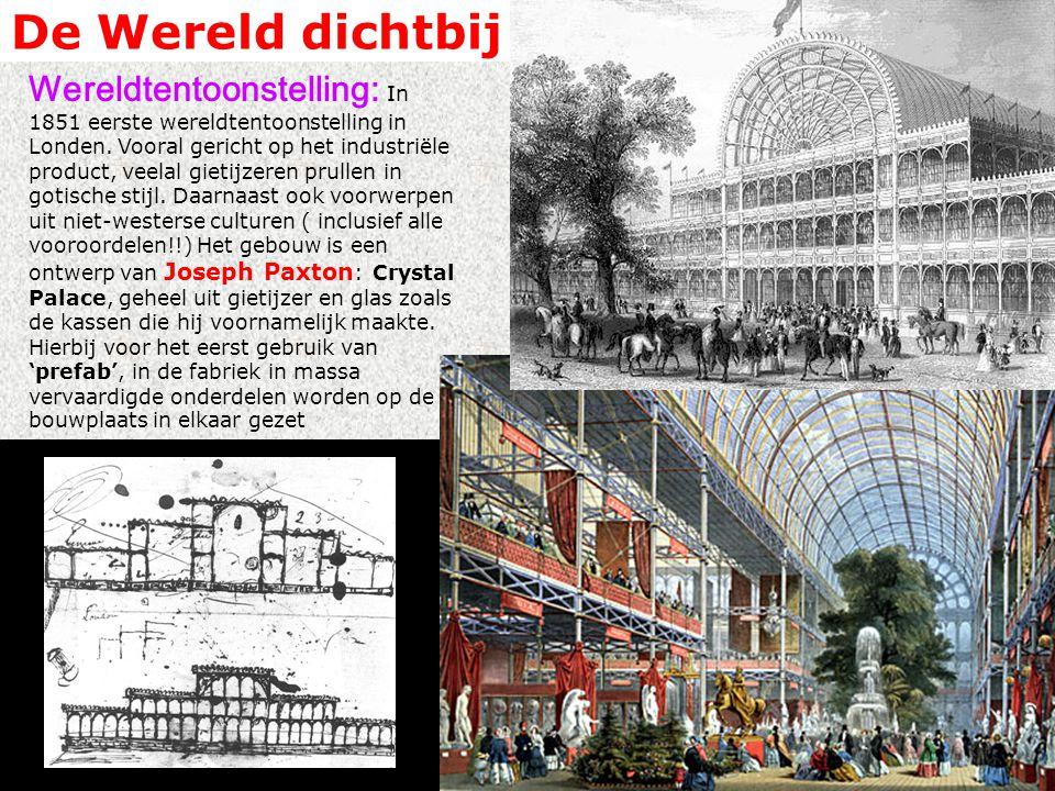 De Wereld dichtbij Wereldtentoonstelling: In 1851 eerste wereldtentoonstelling in Londen.