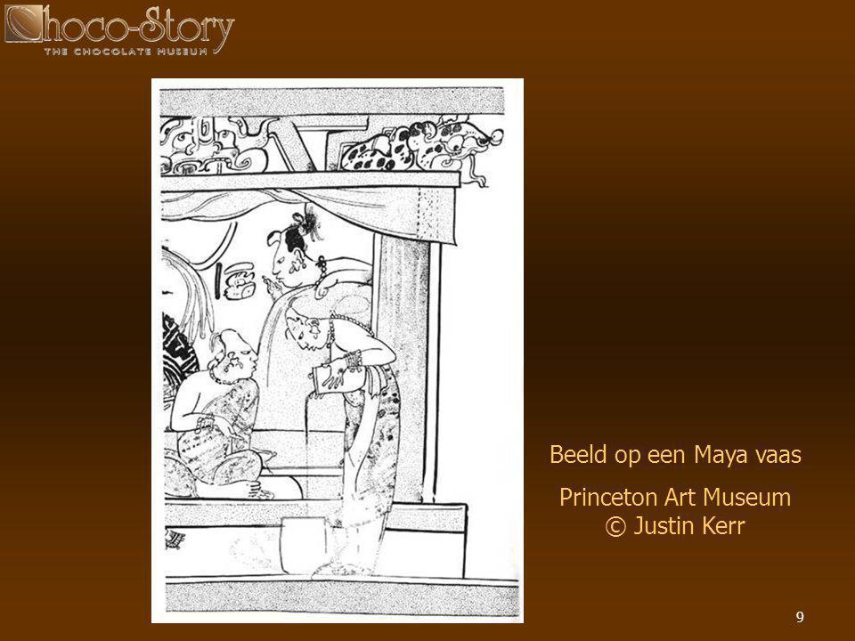 9 Beeld op een Maya vaas Princeton Art Museum © Justin Kerr