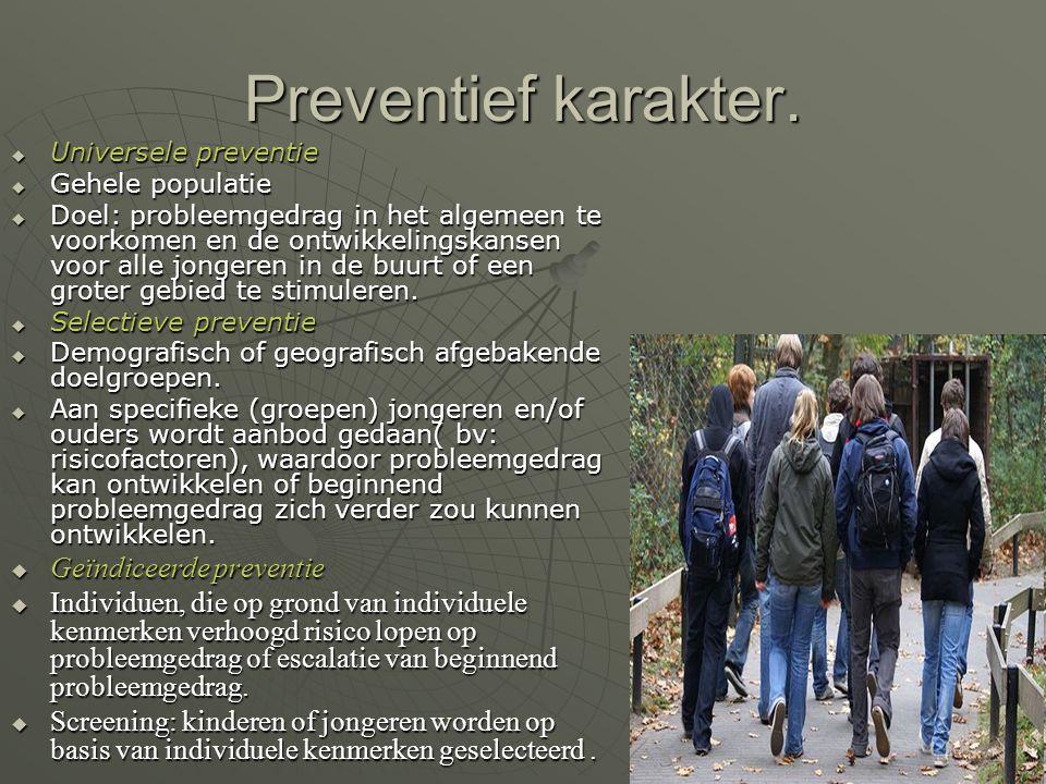 Universele preventie programma's.