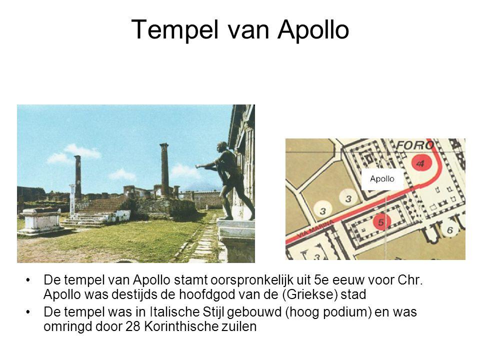 Tempel van Apollo •De tempel van Apollo stamt oorspronkelijk uit 5e eeuw voor Chr. Apollo was destijds de hoofdgod van de (Griekse) stad •De tempel wa