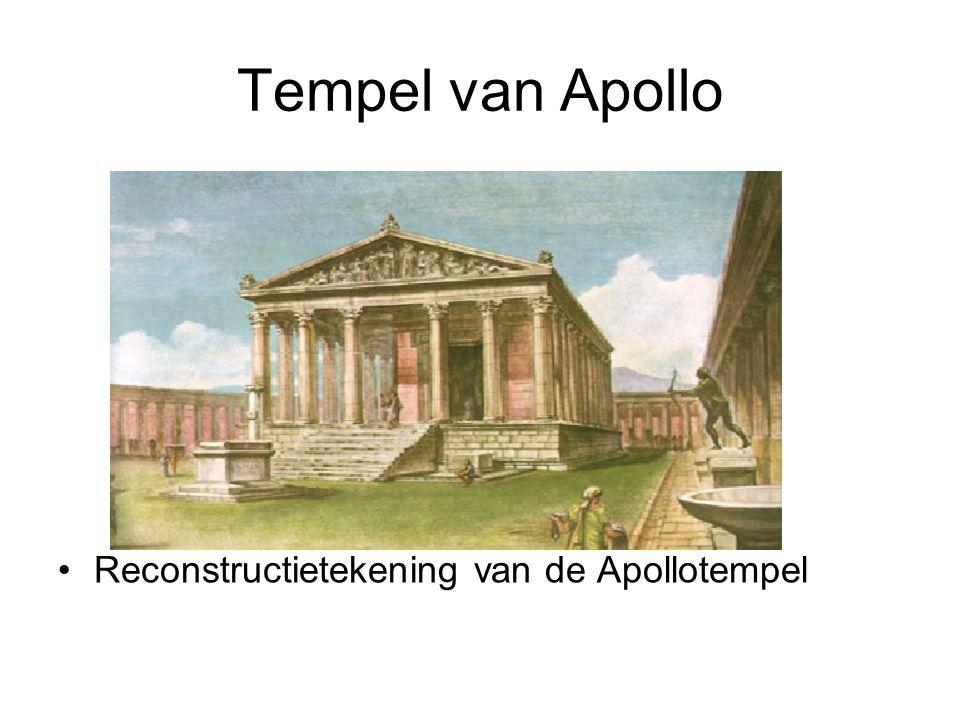 Tempel van Apollo •Reconstructietekening van de Apollotempel