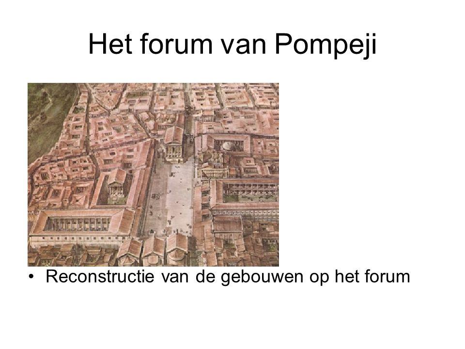 •Reconstructie van de gebouwen op het forum