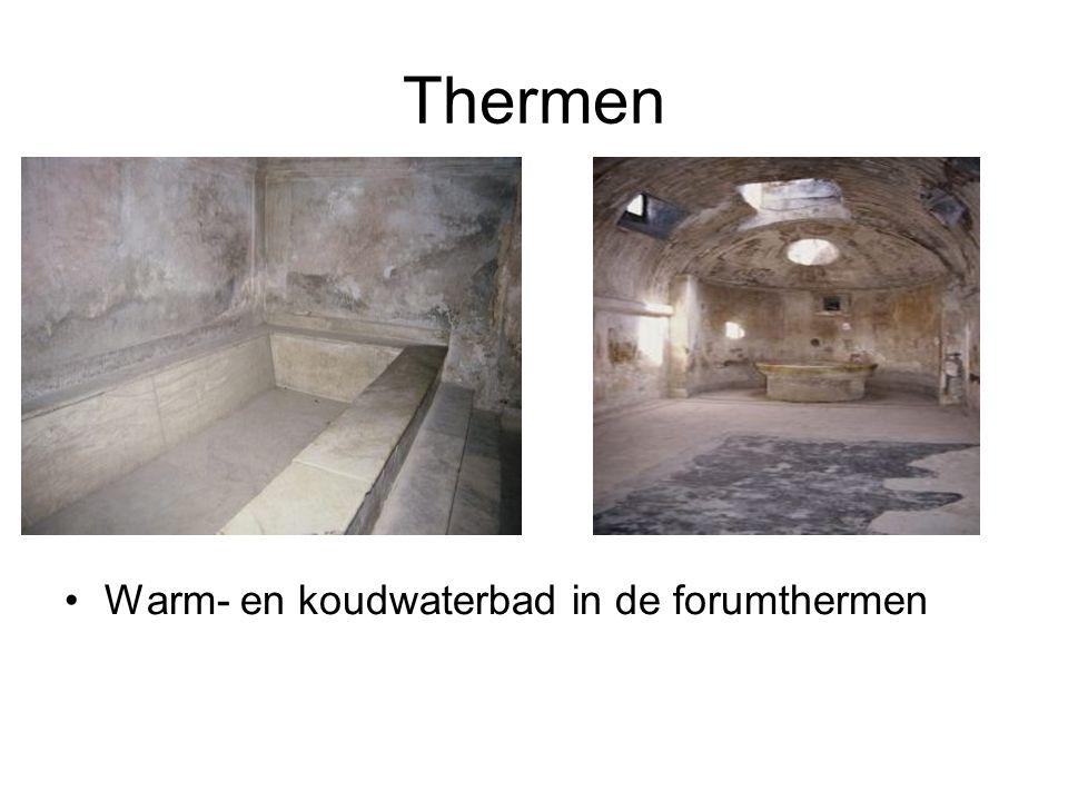 Thermen •Warm- en koudwaterbad in de forumthermen