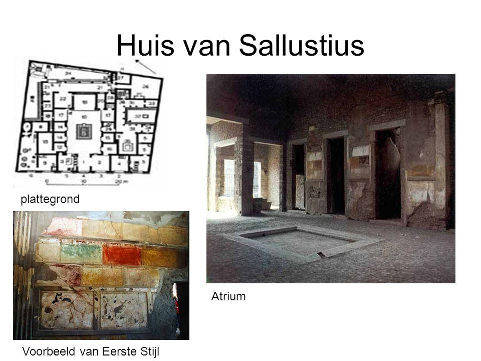 Huis van Sallustius Atrium Voorbeeld van Eerste Stijl plattegrond