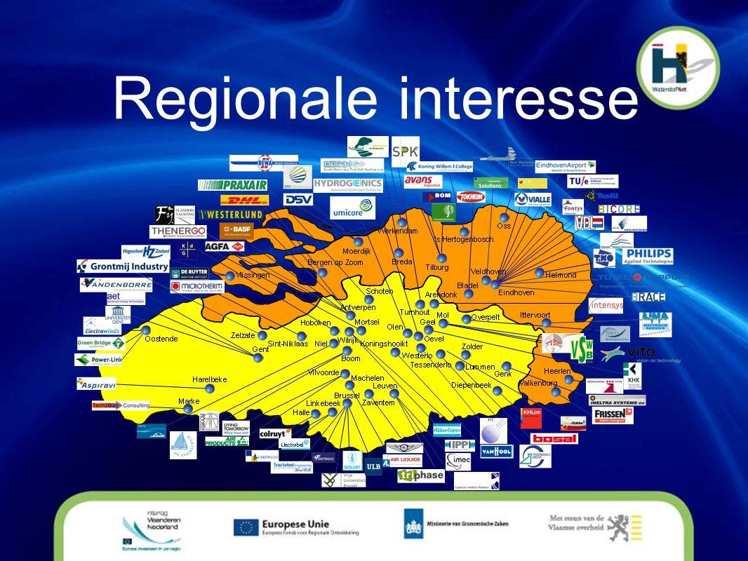 Projecten • In realisatie: • 1 MW brandstofcelplant Nedstack bij Solvay • Tankstation Vlaanderen door Hydrogenics • Onderwijsprogramma met o.a.