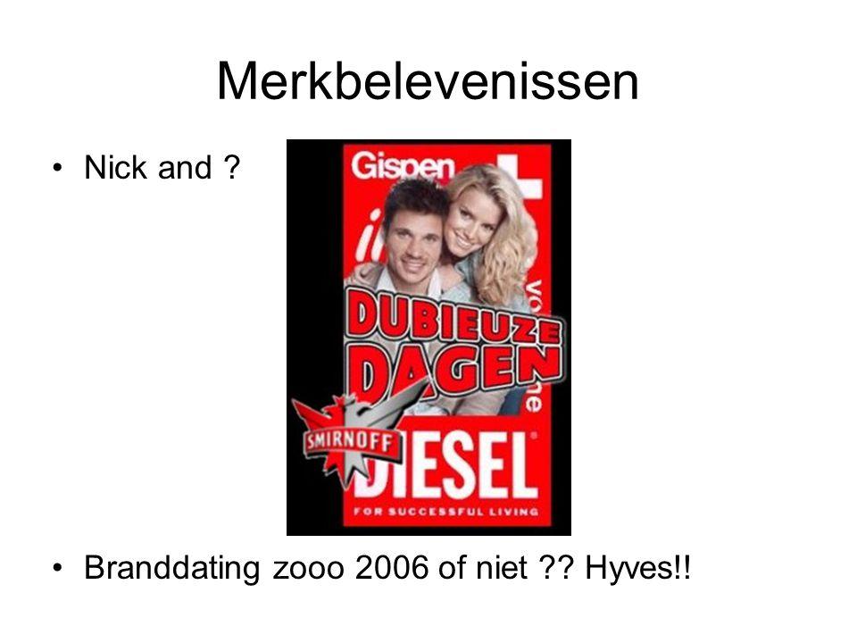 Merkbelevenissen •Nick and ? •Branddating zooo 2006 of niet ?? Hyves!!