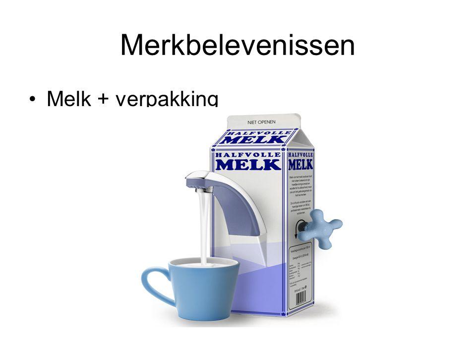 Merkbelevenissen •Melk + verpakking