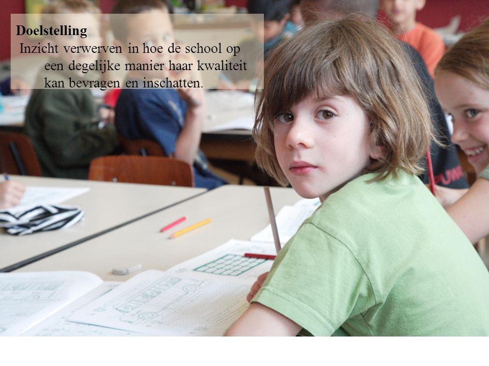 2 2. Het doorlichtingsbezoek Doelstelling Inzicht verwerven in hoe de school op een degelijke manier haar kwaliteit kan bevragen en inschatten.