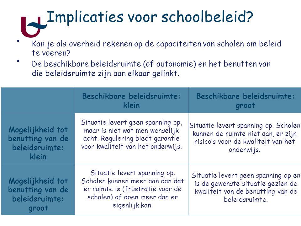 5 Implicaties voor schoolbeleid.
