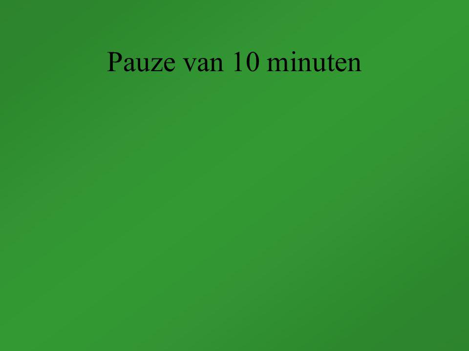 Pauze van 10 minuten