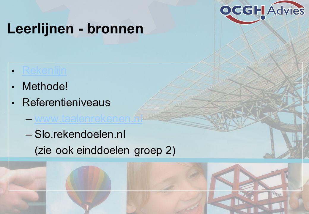 Leerlijnen - bronnen • Rekenlijn Rekenlijn • Methode.