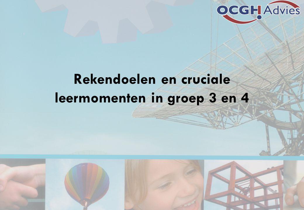 Rekendoelen en cruciale leermomenten in groep 3 en 4