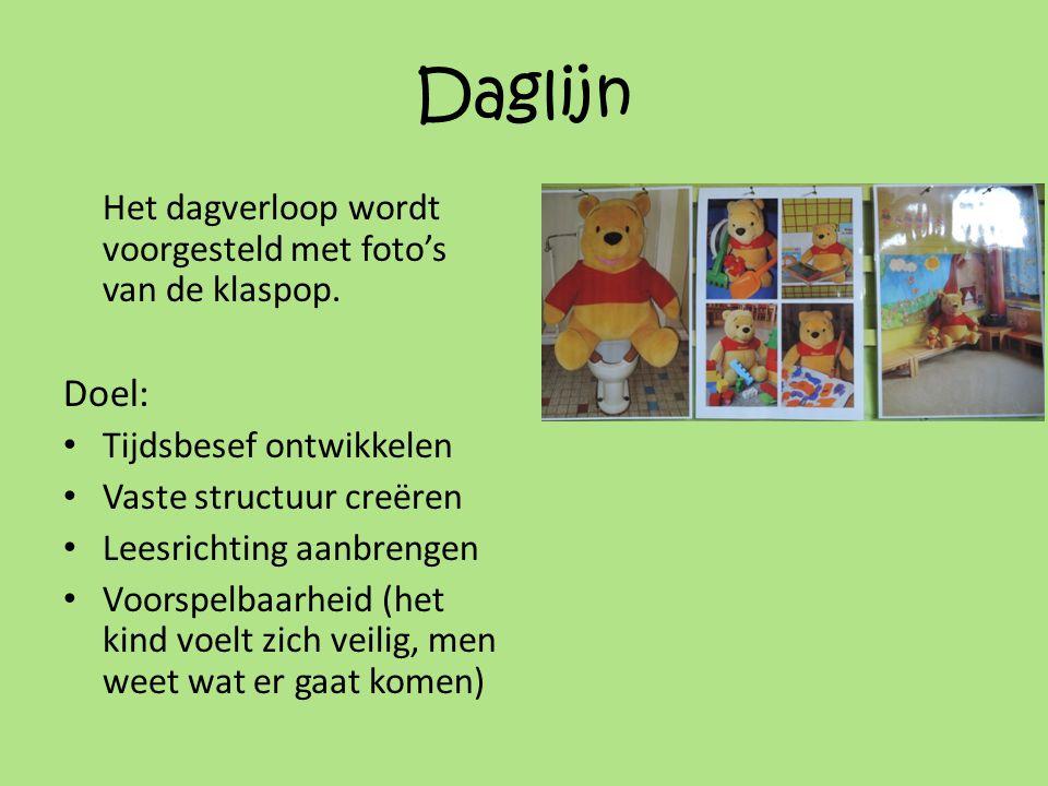 Daglijn Het dagverloop wordt voorgesteld met foto's van de klaspop.