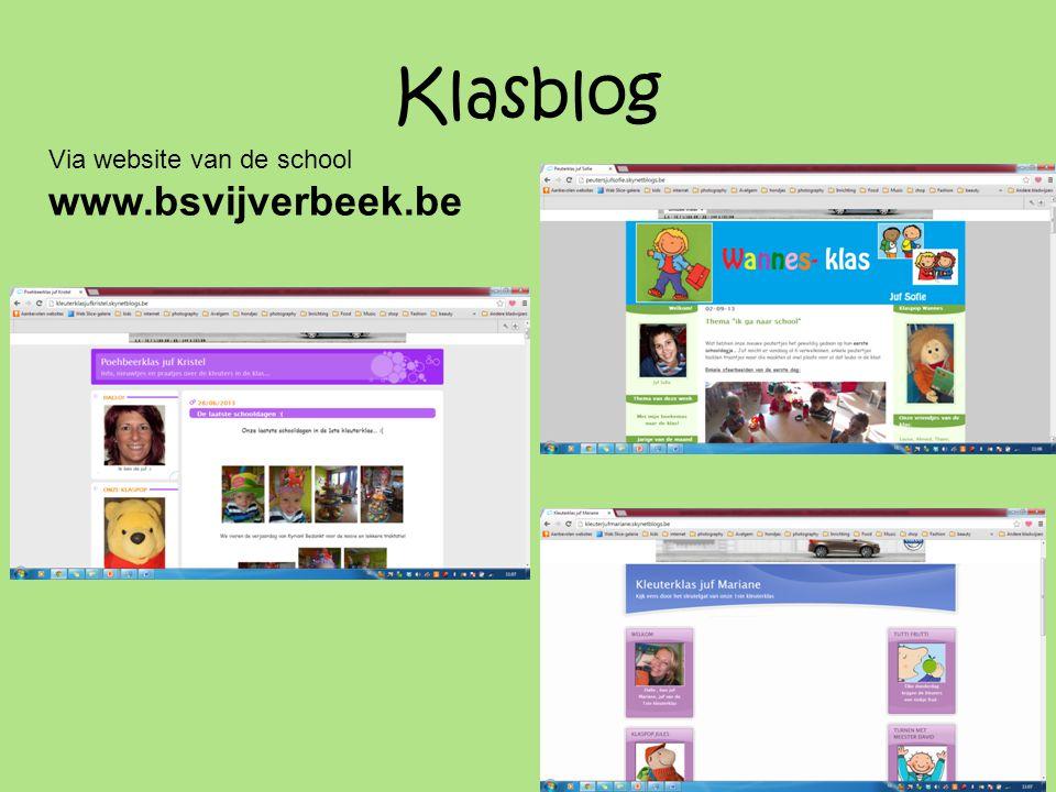 Klasblog Via website van de school www.bsvijverbeek.be