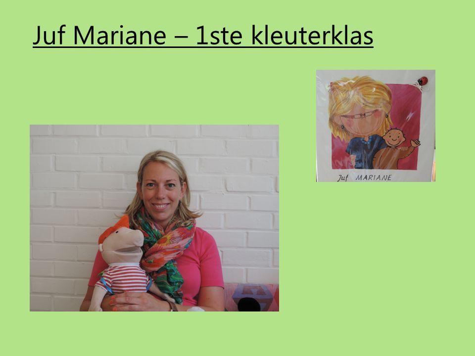 Juf Mariane – 1ste kleuterklas