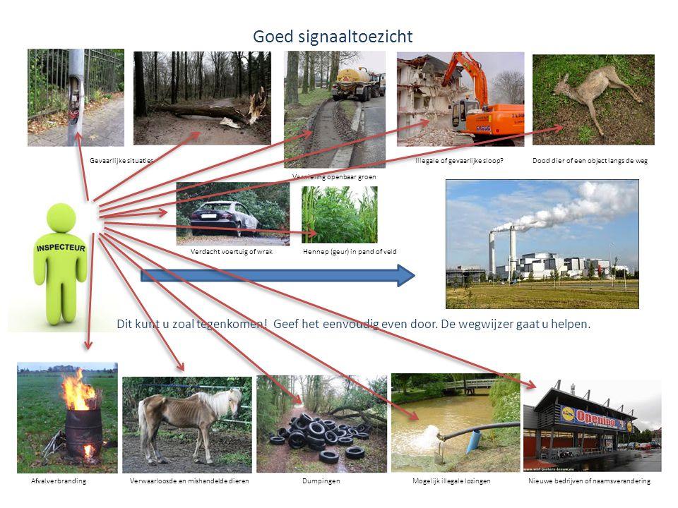 Stem op de Wegwijzer Signaaltoezicht • Op dit moment is de Wegwijzer Signaaltoezicht ontwikkeld voor de regio Flevoland.