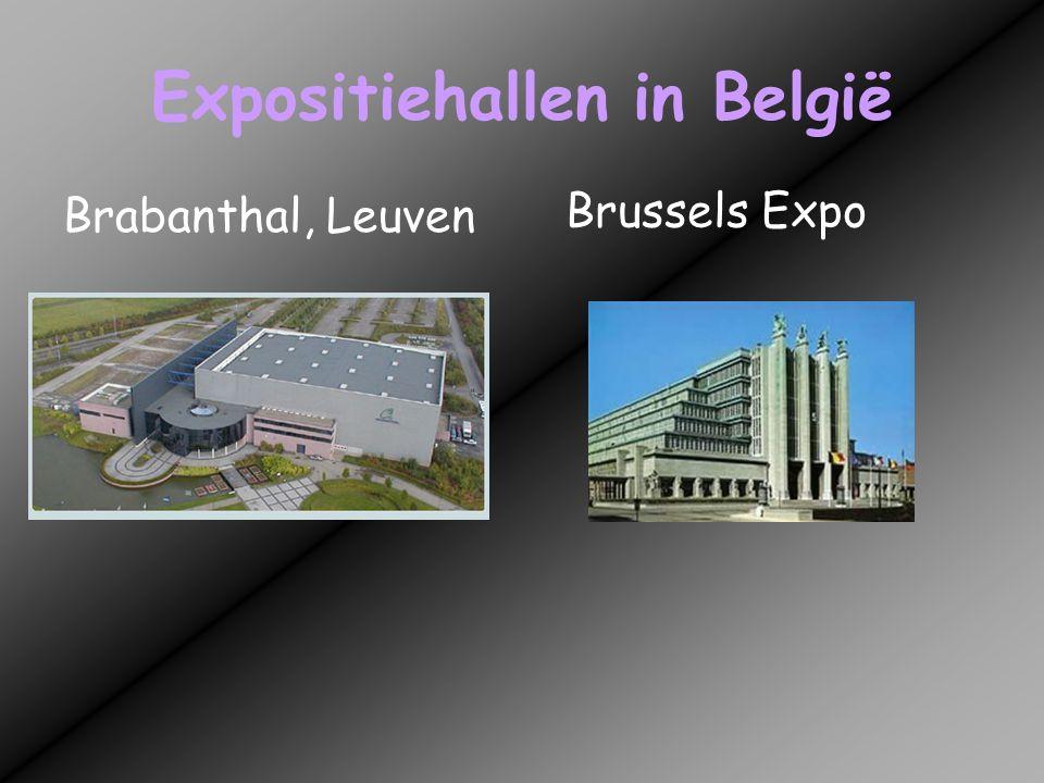 Expositiehallen in België Flanders Expo, Gent Grenslandhallen,Hasselt