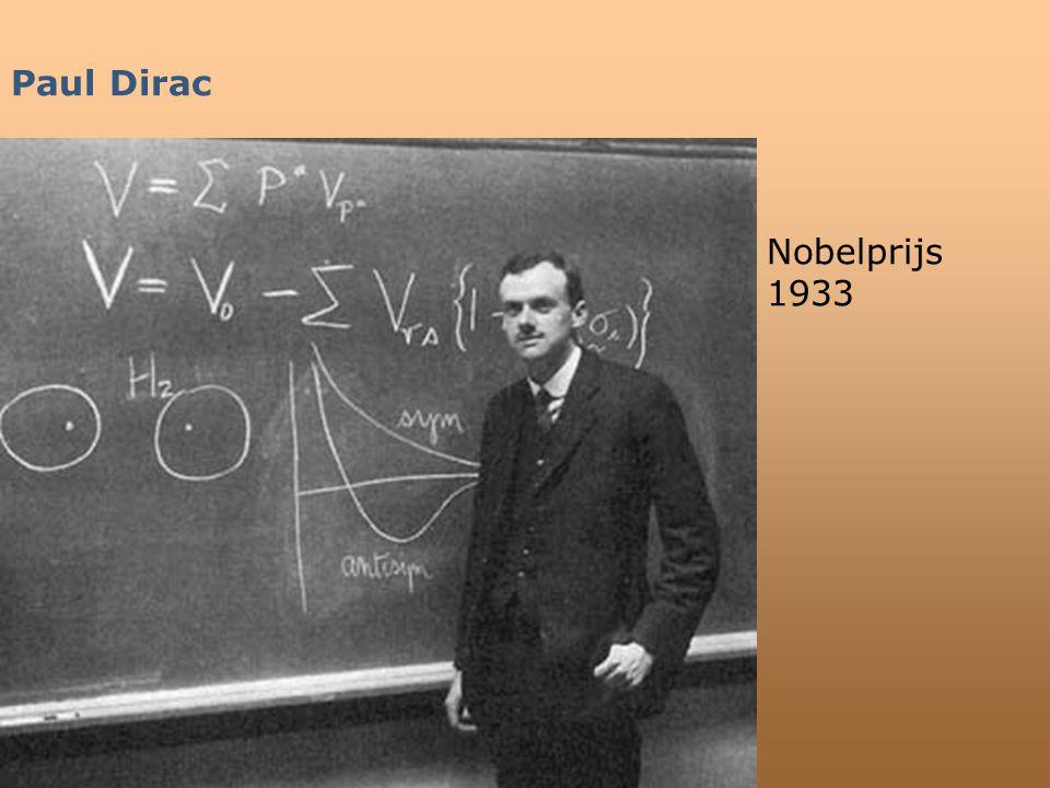 Paul Dirac Nobelprijs 1933