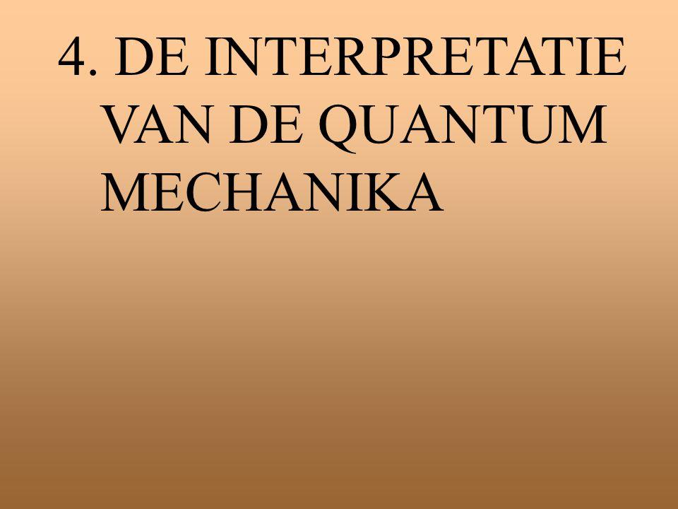 4. DE INTERPRETATIE VAN DE QUANTUM MECHANIKA