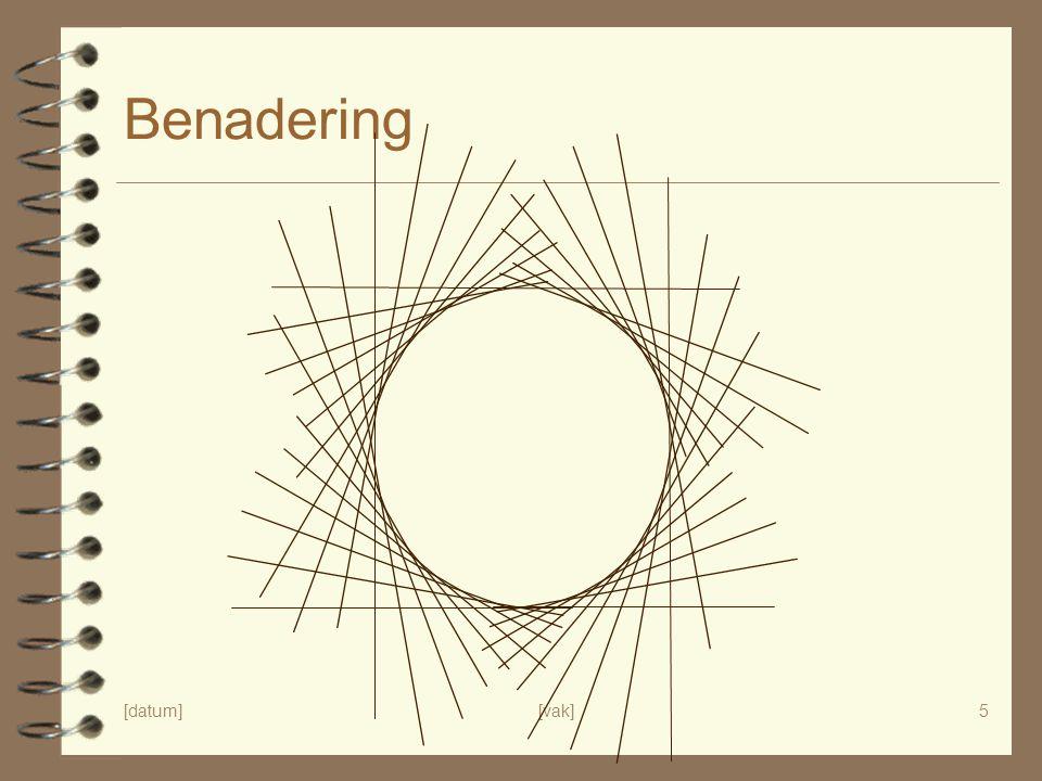 [datum][vak]5 Benadering