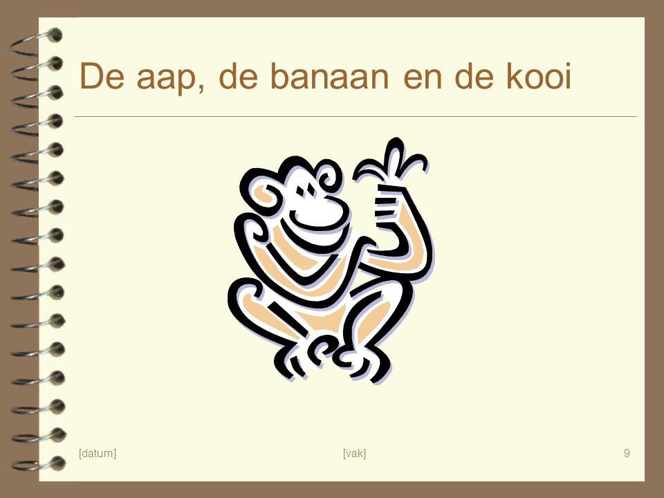 [datum][vak]9 De aap, de banaan en de kooi