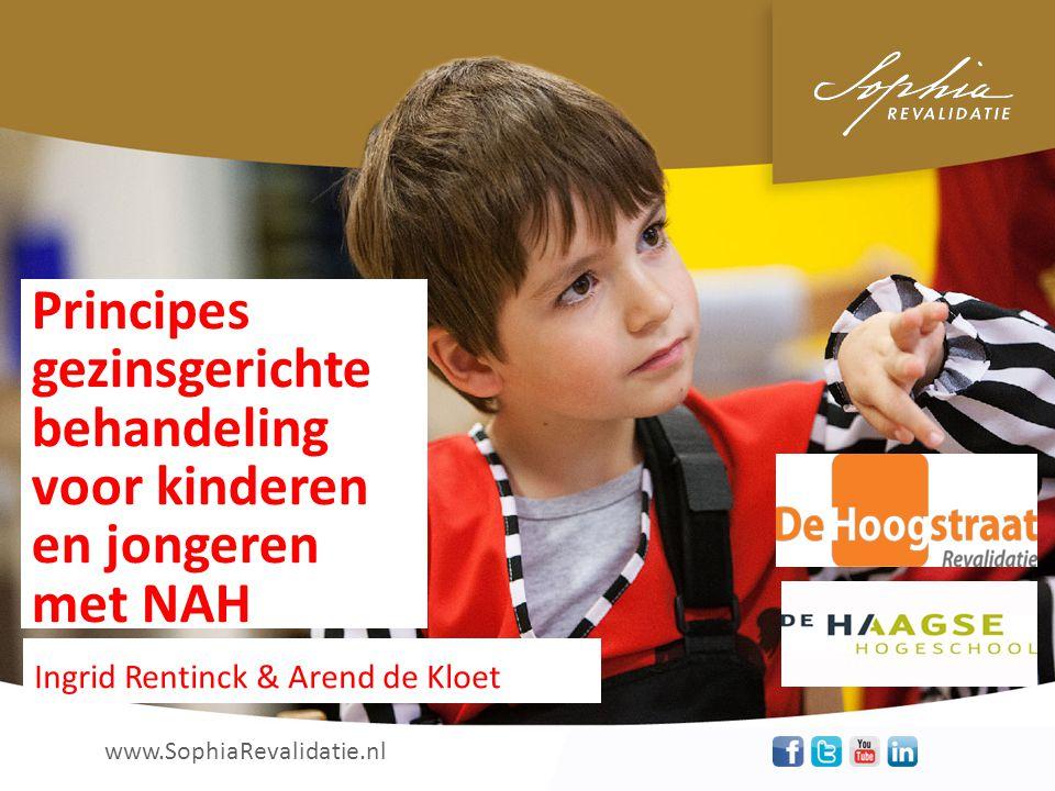 www.SophiaRevalidatie.nl uw aandacht ! Dank voor Principes gezinsgerichte behandeling voor kinderen en jongeren met NAH Ingrid Rentinck & Arend de Klo