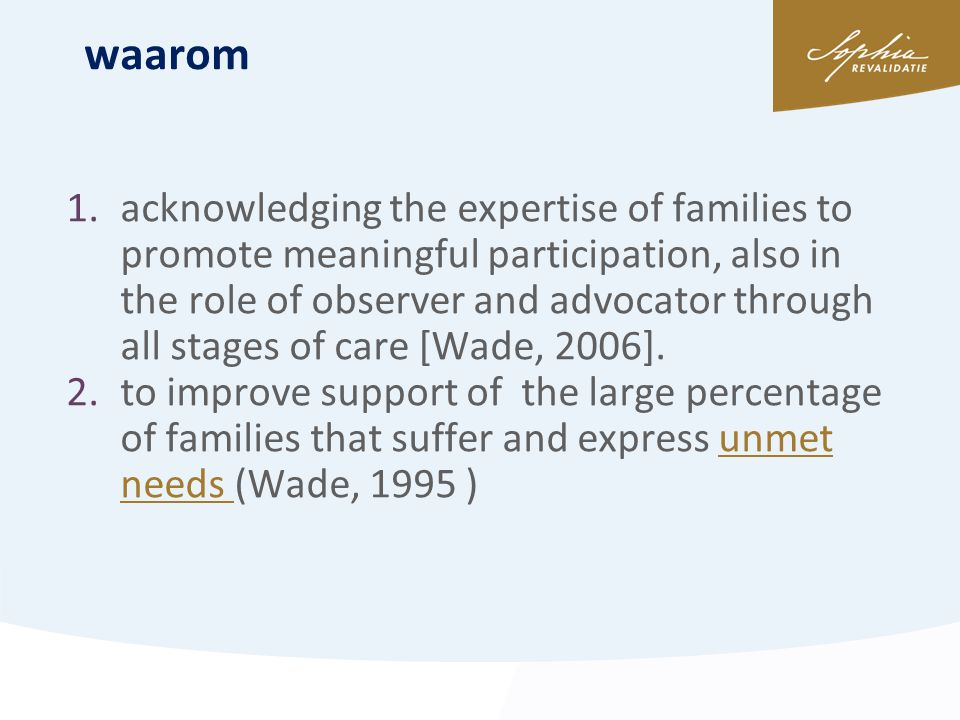 waarom ITON 30 mei 2013 1.acknowledging the expertise of families to promote meaningful participation, also in the role of observer and advocator thro