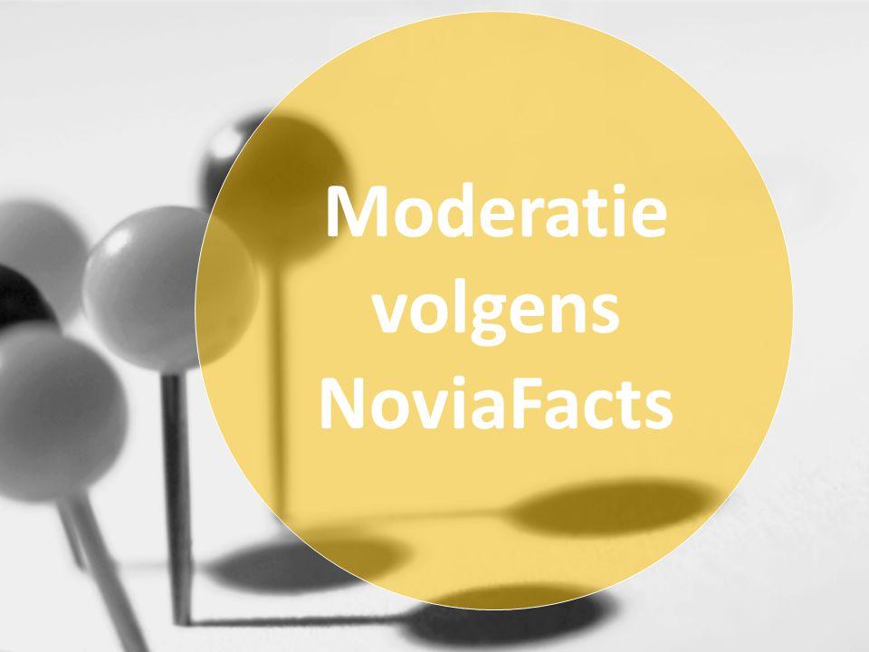 Moderatie volgens NoviaFacts