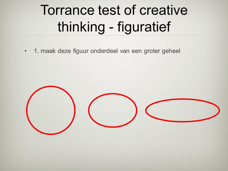 •1. maak deze figuur onderdeel van een groter geheel Torrance test of creative thinking - figuratief