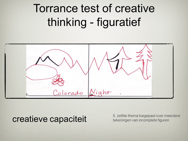5. zelfde thema toegepast over meerdere tekeningen van incomplete figuren creatieve capaciteit Torrance test of creative thinking - figuratief