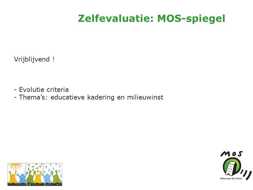 Zelfevaluatie: MOS-spiegel Vrijblijvend .