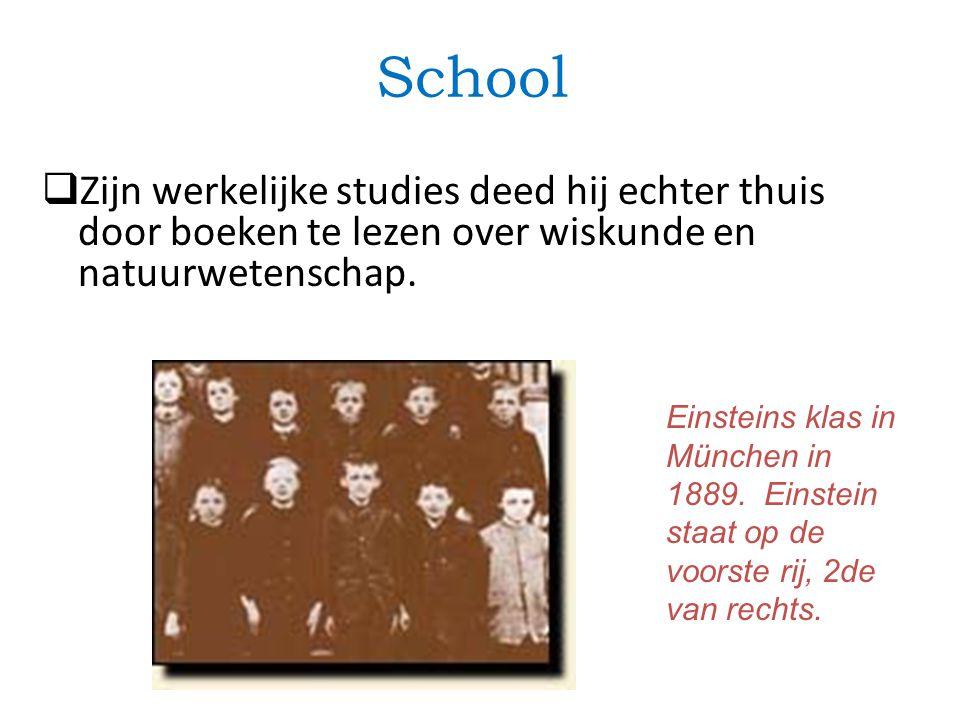 School  Zijn werkelijke studies deed hij echter thuis door boeken te lezen over wiskunde en natuurwetenschap.