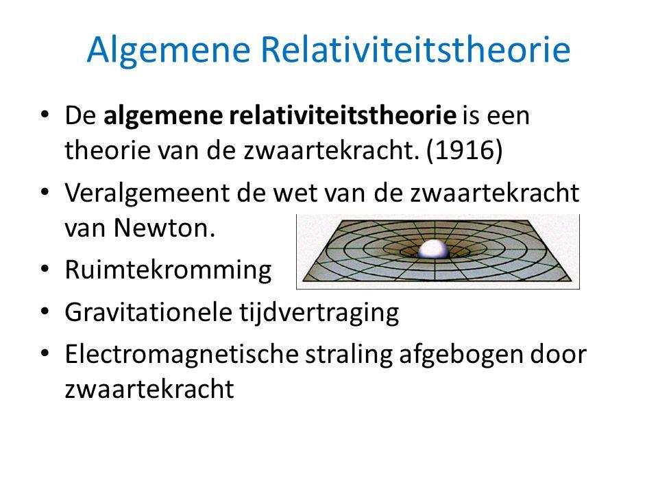 Algemene Relativiteitstheorie • De algemene relativiteitstheorie is een theorie van de zwaartekracht.
