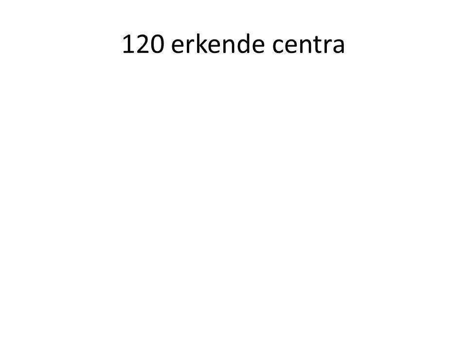 120 erkende centra