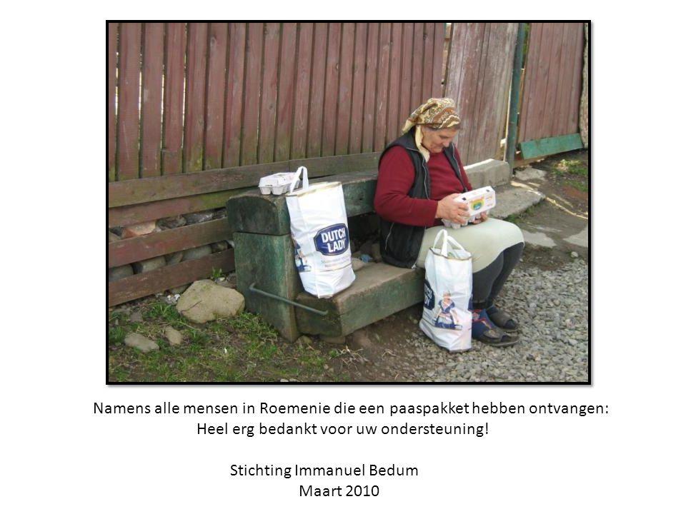 Namens alle mensen in Roemenie die een paaspakket hebben ontvangen: Heel erg bedankt voor uw ondersteuning.