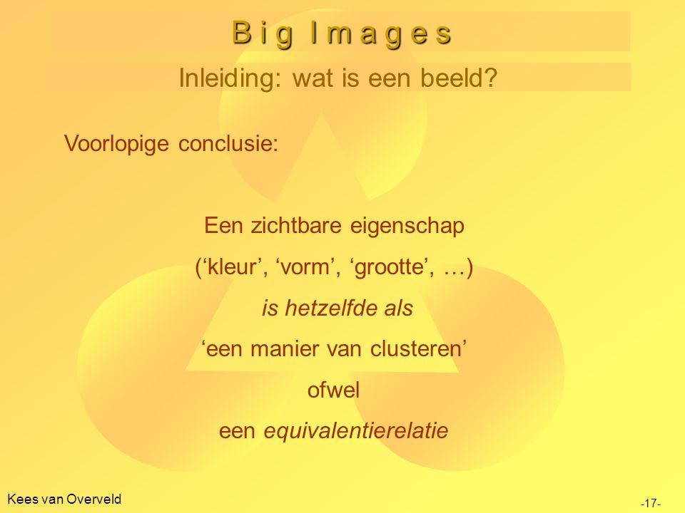 Kees van Overveld B i g I m a g e s Inleiding: wat is een beeld.