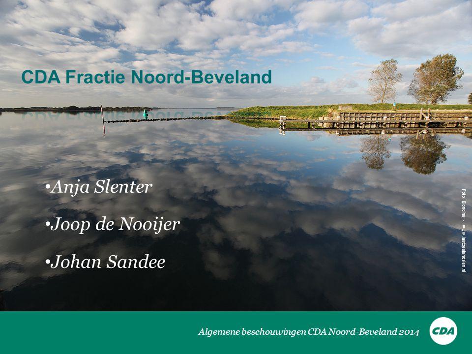 Algemene beschouwingen CDA Noord-Beveland 2014 • Anja Slenter • Joop de Nooijer • Johan Sandee Foto: Biondina - www.laatzeelandzien.nl