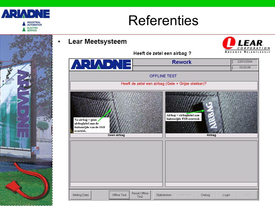 Referenties •Lear Meetsysteem Heeft de zetel verwarming ?