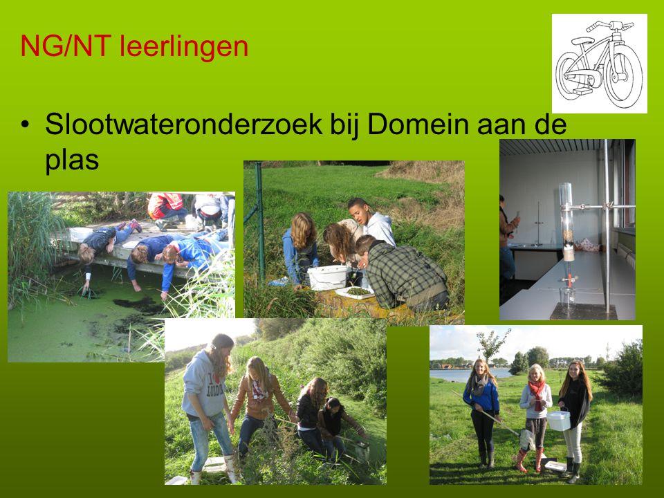 NG/NT leerlingen •Slootwateronderzoek bij Domein aan de plas