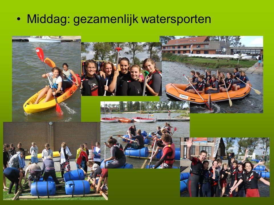 •Middag: gezamenlijk watersporten