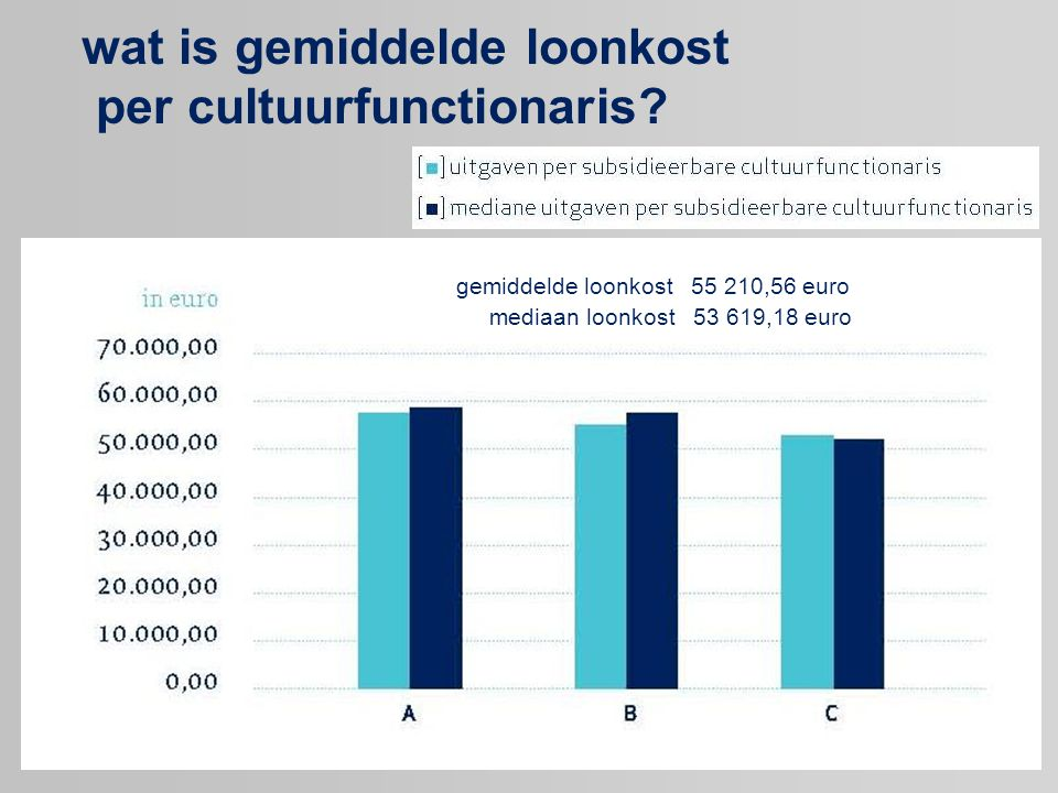 wat is gemiddelde loonkost per cultuurfunctionaris.
