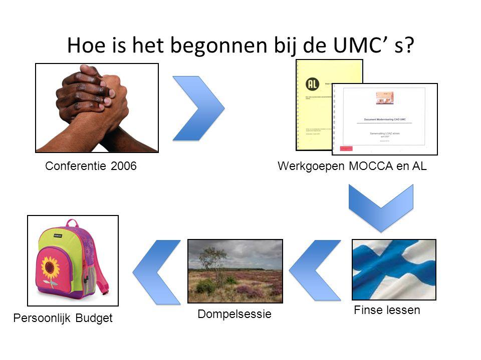 Hoe is het begonnen bij de UMC' s.