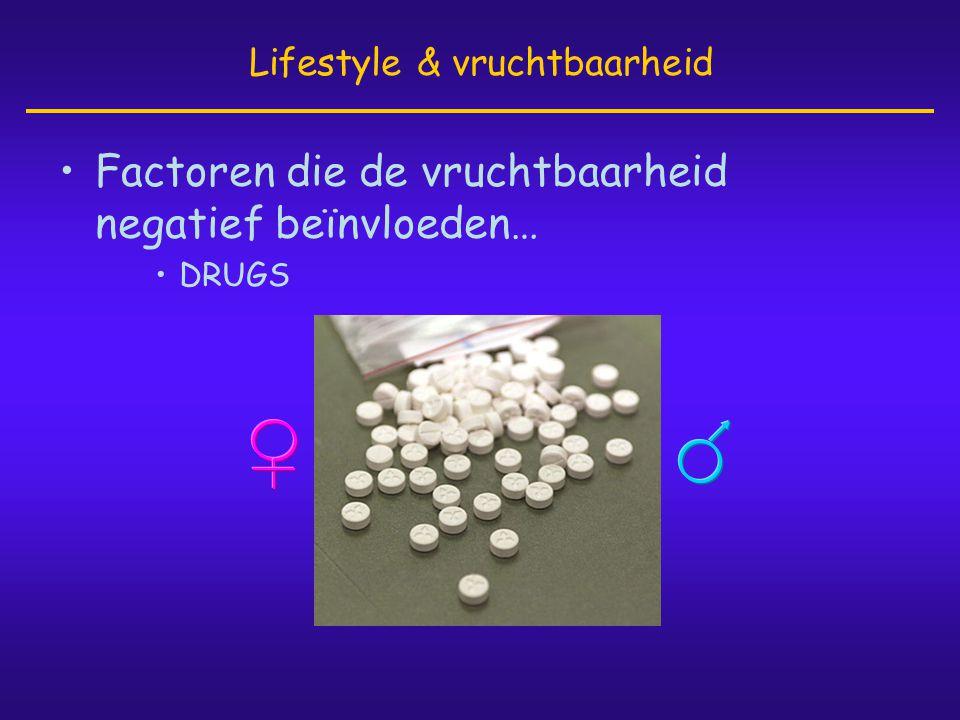 •Factoren die de vruchtbaarheid negatief beïnvloeden… •DRUGS Lifestyle & vruchtbaarheid