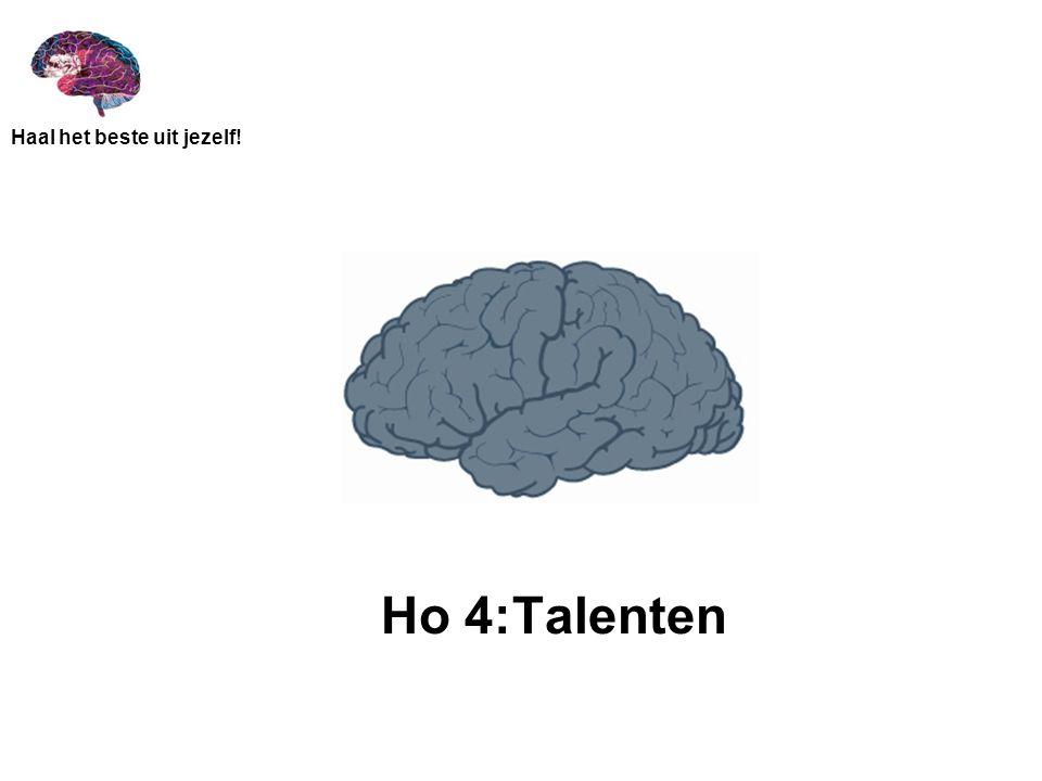 Haal het beste uit jezelf! Ho 4:Talenten