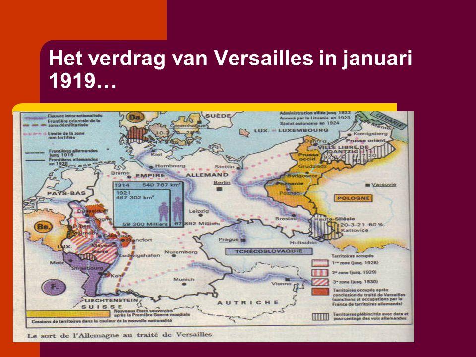 Het verdrag van Versailles in januari 1919…