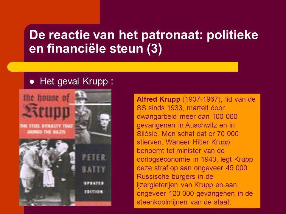 De reactie van het patronaat: politieke en financiële steun (3)  Het geval Krupp : Alfred Krupp (1907-1967), lid van de SS sinds 1933, martelt door d