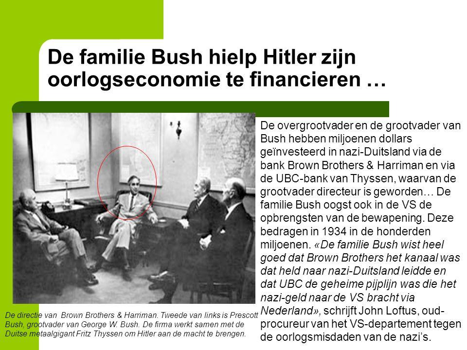 De familie Bush hielp Hitler zijn oorlogseconomie te financieren … De directie van Brown Brothers & Harriman. Tweede van links is Prescott Bush, groot